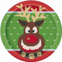 "Christmas Ugly Sweater 9"" Dinner Plates (8)"
